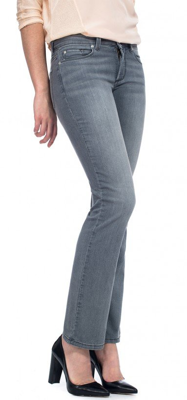 Billie Mini Bootcut in grey lightweight denim (Petite)