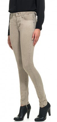 Jegging in sand cotton twill