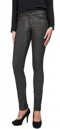 Alina legging in grey coated denim
