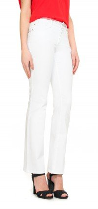 Bootcut in white coloured denim (Petite)