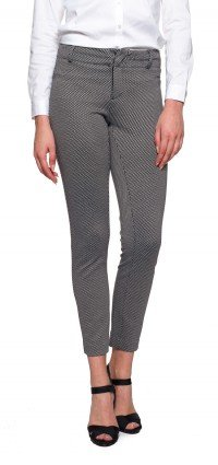 Renee Ankle in black printed career stretch