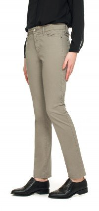 Slim straight in taupe fine line twill