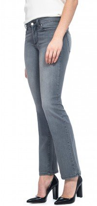 Marilyn Straight in grey lightweight denim (Petite)