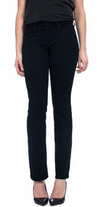 Straight leg in black coloured denim (Petite)